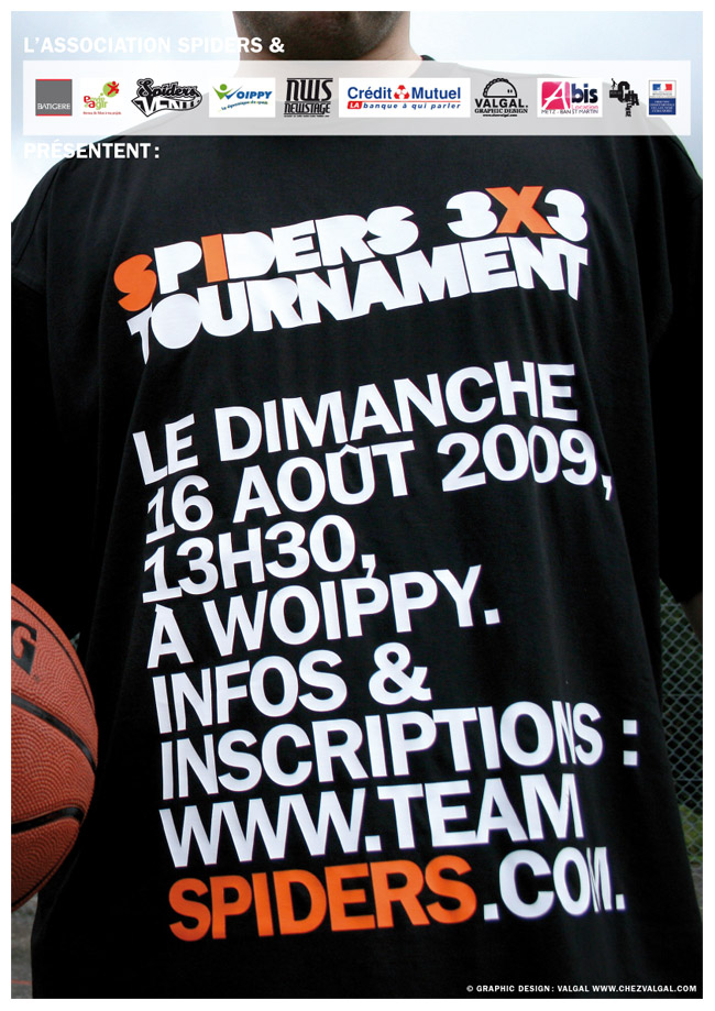 affiche basketball graphiste