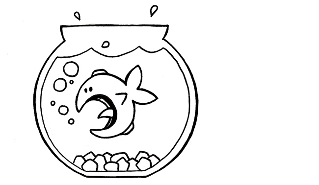 Pin pin coloriage aquarium poisson pour imprimer le on for Aquarium poisson rouge dessin