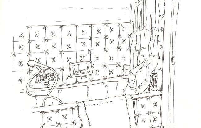 Salle de bain valgal graphiste illustrateur for Croquis de salle de bain