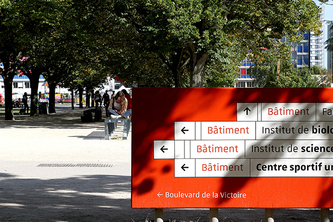 Unistra - Campus - Signalétique